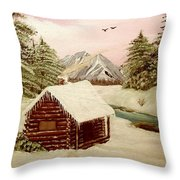 Kelly's Retreat Throw Pillow