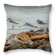 Kelp Standing Visitors Throw Pillow