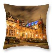 Kelvingrove Art Gallery At Night Throw Pillow