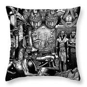 Kemitology Throw Pillow by Matthew Ridgway