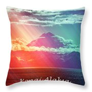 Kenai Alaska Mount Redoubt Throw Pillow