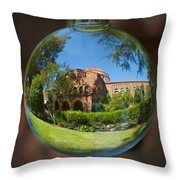 Kendal Hall Chico State University Throw Pillow