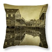 Kennebunkport Dock Square Throw Pillow