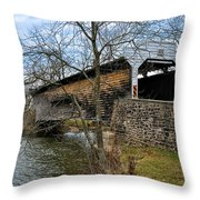 Kennedy Covered Bridge - Chester County Pa Throw Pillow