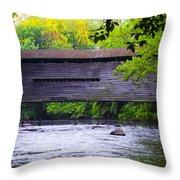 Kennedy Covered Bridge - Kimberton Pa. Throw Pillow