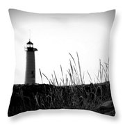 Kenosha North Pier Lighthouse Throw Pillow