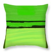 Kensington Gardens Series Green On Green Oil On Canvas Throw Pillow