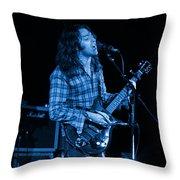 Kent #25 Crop 2 In Blue Throw Pillow