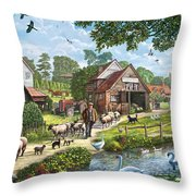 Kentish Farmer Throw Pillow