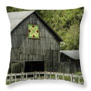 Kentucky Barn Quilt - 3 Throw Pillow