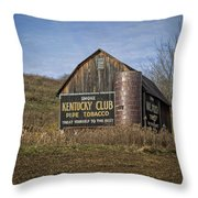 Kentucky Club Barn Throw Pillow