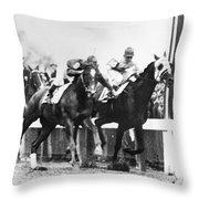 Kentucky Derby Foul Play Throw Pillow