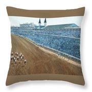 Kentucky Derby - Horse Race Throw Pillow