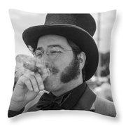 Kentucky Derby Infield Cigar Throw Pillow