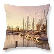 Kentucky Lake Sail Boats Throw Pillow
