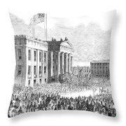 Kentucky Louisville, 1861 Throw Pillow