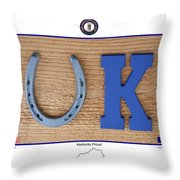 Kentucky Proud Throw Pillow