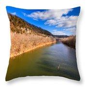 Kentucky River Palisades Throw Pillow