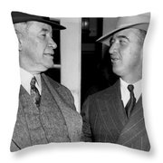 Kentucky Senators Visit Fdr Throw Pillow by Underwood Archives