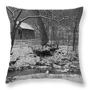 Kentucky Snow Throw Pillow