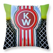 Kenworth Truck Emblem -1196c Throw Pillow