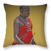 Kenya Warrior Throw Pillow