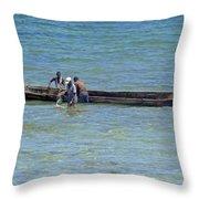 Kenyan Fishermen Throw Pillow