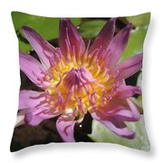 Kerala Flower Throw Pillow