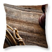 Kerosene Lamp And Lariat Throw Pillow