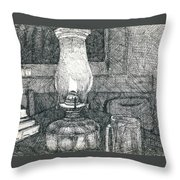 Kerosene Lamp Throw Pillow