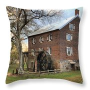 Kerr Grist Mill Throw Pillow