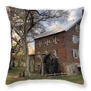 Kerr Grist Mill At Sloan Park Throw Pillow
