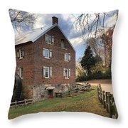 Kerr Grist Mill Panorama Throw Pillow
