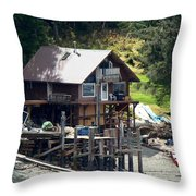 Ketchikan Buildings With Character 2 Throw Pillow