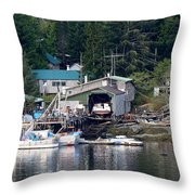 Ketchikan Buildings With Character 1 Throw Pillow