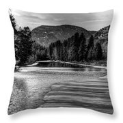 Kettle Black And White Throw Pillow