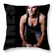 Kettlebell Time Throw Pillow