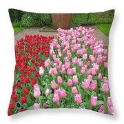 Keukenhof Gardens 1 Throw Pillow