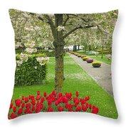 Keukenhof Gardens 33 Throw Pillow