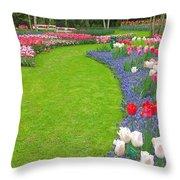 Keukenhof Gardens 54 Throw Pillow