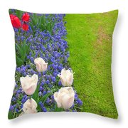 Keukenhof Gardens 55 Throw Pillow