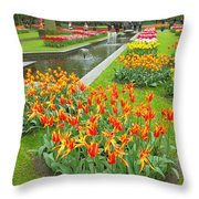 Keukenhof Gardens 70 Throw Pillow