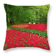 Keukenhof Gardens 88 Throw Pillow