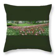 Keukenhof Gardens Panoramic 49 Throw Pillow