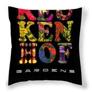 Keukenhof Gardens The Poster Throw Pillow
