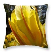 Keukenhof Yellow Tulips Throw Pillow