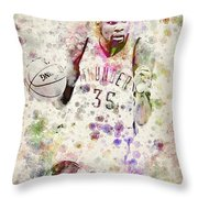 Kevin Durant In Color Throw Pillow by Aged Pixel