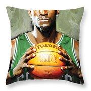 Kevin Garnett Artwork 2 Throw Pillow