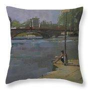 Kew Bridge, 2009 Oil On Canvas Throw Pillow
