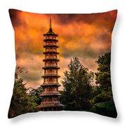 Kew Gardens Pagoda Throw Pillow